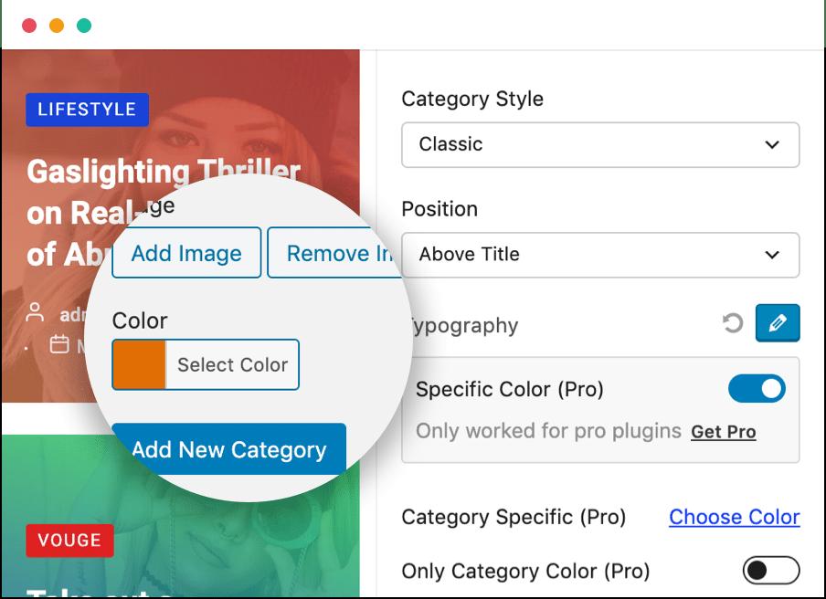 Category Style
