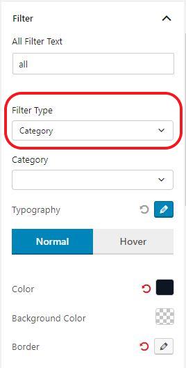 Filter Type