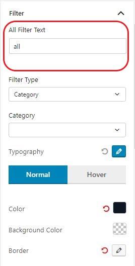 All Text Filter