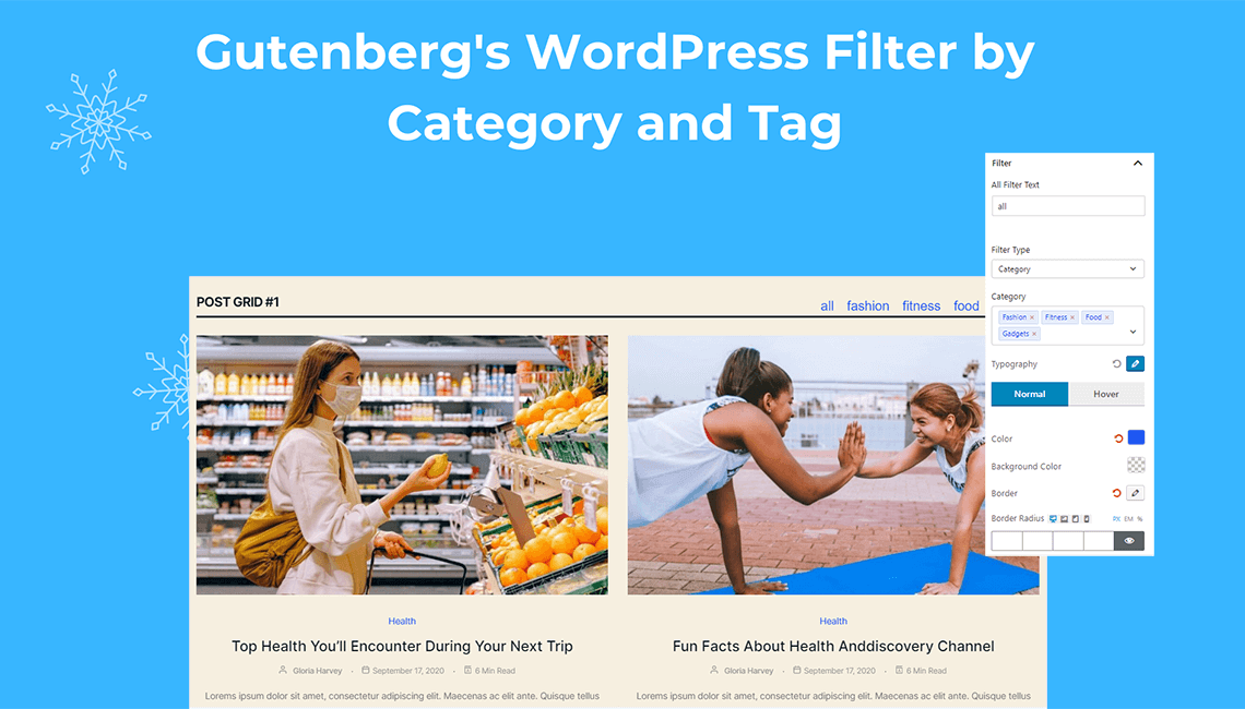 Gutenberg's WordPress Filter