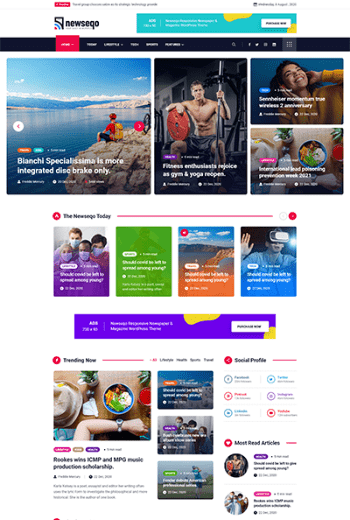 Introducing Newseqo - The Perfect Theme for Your News & Magazine 4