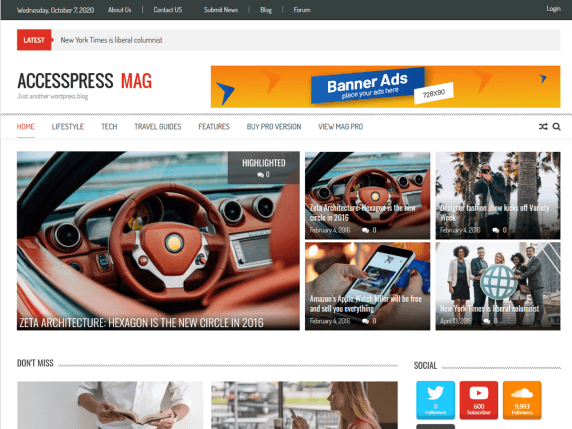 39 Best Free WordPress Magazine Themes 2021 1