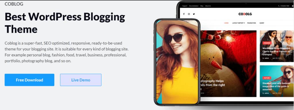 Coblog: Best Free WordPress Theme for Personal Blog