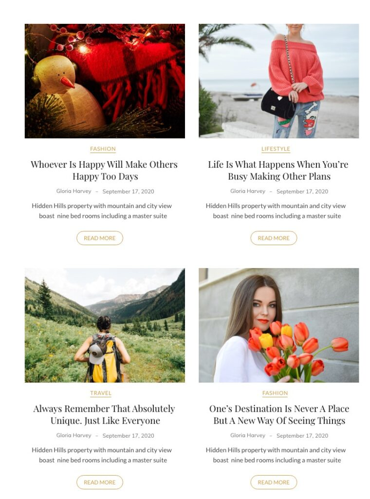 Two column blog post