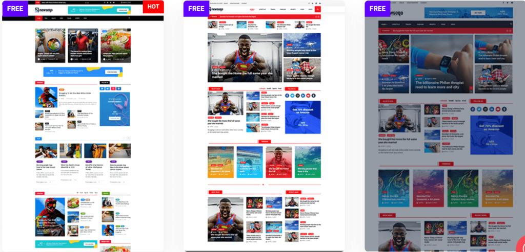 Newseqo page variations
