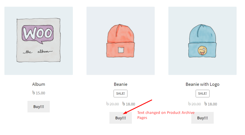 Add to Cart Button Text Change in Product Archive Page