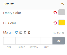 Review Settings of Product Slider