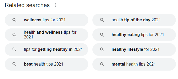 related search phrases